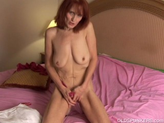 Porno Video of Skinny Mature Amateur Redhead