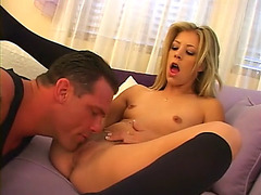 Cute blond leah fucked right into an asshole