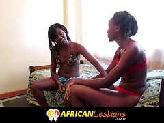 Non-Professional african lesbo ding-dong party
