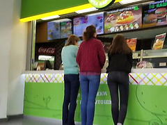 Admirable butts wish fast food