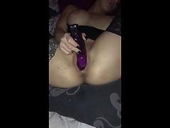 Sexy non-professional toys muff movie scene