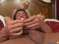 Moj hawt tanned brooke takes biggest load from footjob
