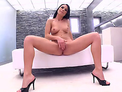 Awesome sex with a large shlong for a hawt brunette hair