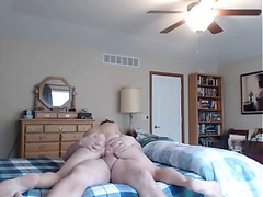 Parents caught fucking on hidden web camera three