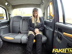 Fake taxi aged breasty mother i'd like to fuck licks butt and empties large balls
