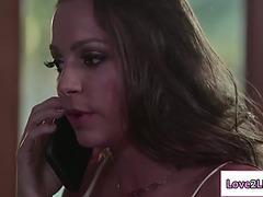 Lesbi abigail likes licking moist twat