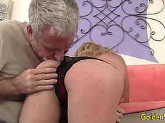 Aged woman cristine ruby engulfing and fucking