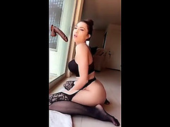 Hot sweetheart has joy with 2 dildos at one time