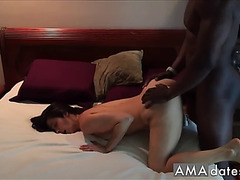 Darksome bull making yoga hotwife supplicate and big O