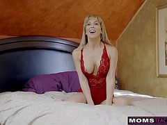 Momsteachsex-fearsome breasty mother i'd like to fuck receives hawt mothers day threeway s8:e4