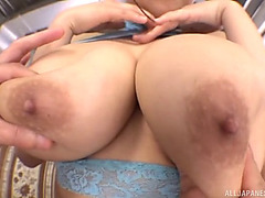 Yuzuki marian loves to ride a large wang whilst her large breasts bounce