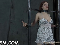 Handcuffed chick needs hot punishment