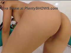 Youthful dark brown carol with a hawt gazoo masturbates on livecam