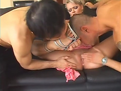 Heels licking and double penetration