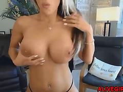 Hawt breathtaking blond tegan with massive bouncing whoppers
