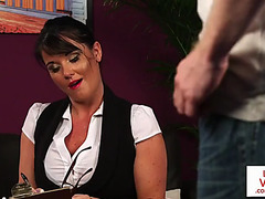 British mother i'd like to fuck voyeur instructs her sub to jerk