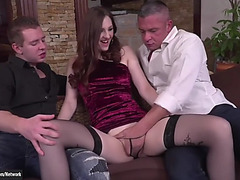 Russian redhead irina pavlova analized and double permeated