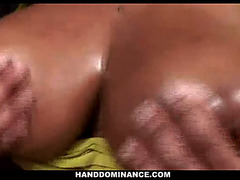 Massive boobed dark mother i'd like to fuck gives cook jerking