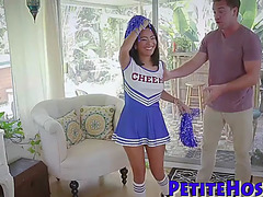 Miniature cheerleader plowed