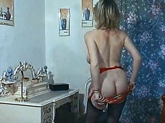 Temptation threatening-fearsome vintage british large breasts dance tease