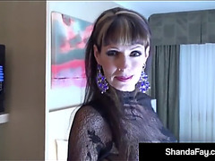 Sex crazed cougar shanda fay acquires a large hard rod from hubby