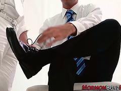 Homosexual mormon jerks off
