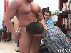 Engulfing a giant stripper jock