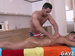 Getting butt filled at massage