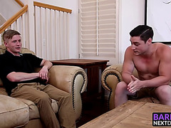 Chris blades widens his legs for clark campbell large tool
