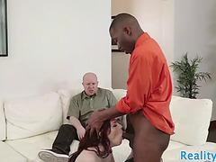 Cuckolding wife drilled by dark ramrod