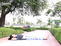 Yoga by a indian hotty