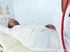 Inked sweetheart plays wicked nurse who can't live without shlong