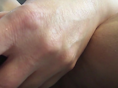 Whore stretches shaggy snatch