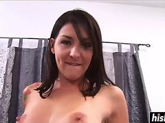 Smokin' sexy playgirl plays with cocks