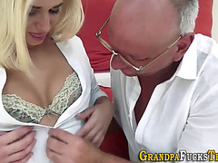 Blond fucking old dude