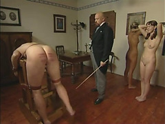 Schoolgirls caned savagely