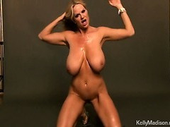 Glamorous Busty MILF Oils Up Her Hot Tits