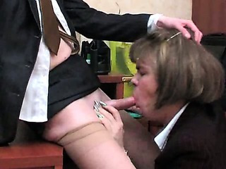 Porno Video of Crossdressers Office Twosome