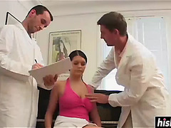 Hawt cutie receives screwed by 2 doctors