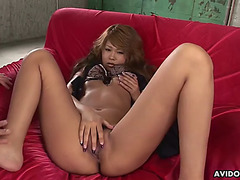 Squirting hitomi mano acquires her unshaved cookie toyed