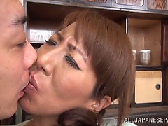 Stud fingers a breasty japanese whore
