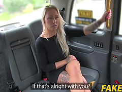 Nova shields in blondes taut holes screwed in cab
