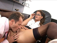Hawt secretary getting assfuck