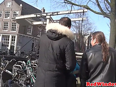 Real amsterdam prostitute rides hard schlong