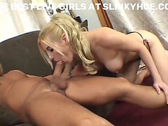 Blond mother i'd like to fuck blowing pecker and receives shoved