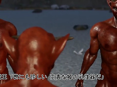 Amazing 3d teat fucking