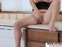 Ideal body mother megan gives titjob well delicate step-son