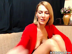 Moist older wench masturbation on web camera show