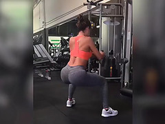 Ana working out