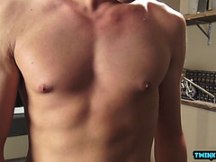 Latin twink cook jerking with spunk flow
